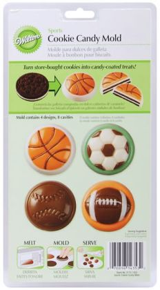 Candy Mold-Sports 8 Cavity (4 Designs)