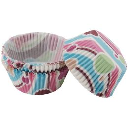 Standard Baking Cups-Bubble Stripes 75/Pkg