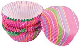 Baking Cups-Snappy Stripes 75/Pkg - Bon Bon