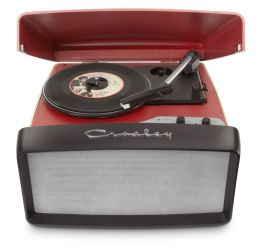 Collegiate Portable USB Turntable- Red