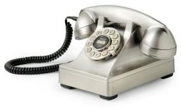 Crosley 302 Desk Phone - Brushed Chrome