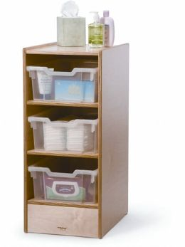 Crib Dresser with Fixed Shelves