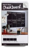 Product Image. Title: Slate Gray Peel & Stick Chalkboard with Chalk, 4 Sheets, 9'' x 12''