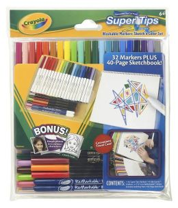 Crayola Supertips Marker Sketch & Draw Set