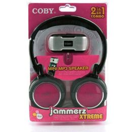 Coby CV18523PNK Super Bass Digital Stereo HP with Folding Headband & Bonus CSMP23 in PINK