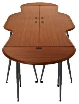 Balt 90119 Iflex Small Half Round Full Table - Cherry