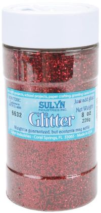 Glitter Shaker 8 Ounces-Red
