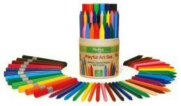 P'kolino Playful Art Set (12 Markers, 12 Crayons, and 16 Pencils)