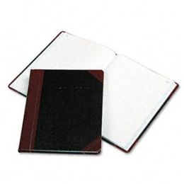 Boorum & Pease G21-150-R Log Book- Record Rule- Black/Red Cover- 150 Pages- 10 3/8 x 8 1/8