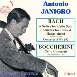 Bach: 6 Suites for Cello Solo; 3 Sonatas for Cello & Harpsichord; Boccherini: Cello Concerto