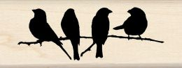 Inkadinkado Mounted Rubber Stamp DD-Branch With Birds