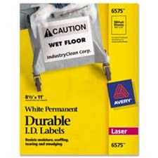 Avery Consumer Products AVE6578 Durable ID Labels- Laser- Permanent- 2in.x2-.63in.- 7- WE