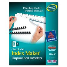 Avery Consumer Products AVE11442 Index Maker- Laser- Unpunched- 3-Tab- White- 25-Set