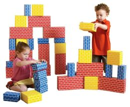 Edushape 52-Piece CORRUGATED Building BLOCKS Set