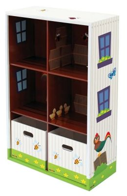 Krooom Naggie Bookcase with 2 Storage Boxes
