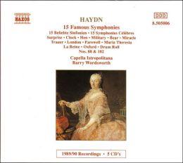 Symphonies (Haydn / Wordsworth / Capella Istropolitana)