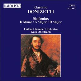 Donizetti: Sinfonias, Transcribed from String Quartets