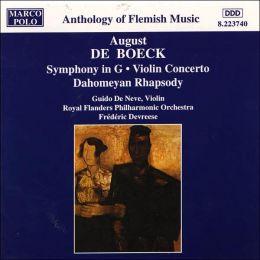 Boeck: Symphony In G/Violin Concerto/Dahomeyan Rhapsody