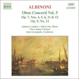 Albinoni: Oboe Concerti, Vol. 3