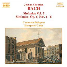 J.C. Bach: Sinfonias, Vol. 2 - Op. 6