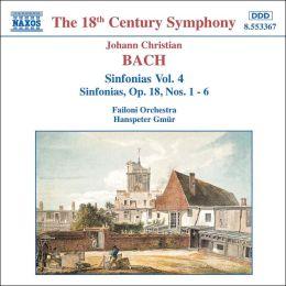 Johann Christian Bach: Sinfonias Vol. 4, Sinfonias, Op. 18, Nos. 106