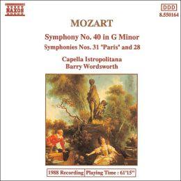 Mozart: Symphonies Nos. 40, 31 & 28