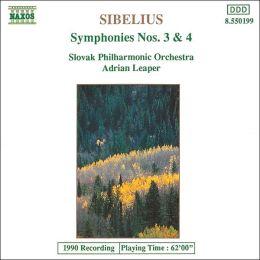 Sibelius: Symphonies Nos. 3 & 4