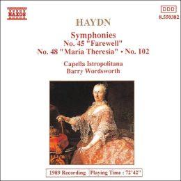 Haydn: Symphonies Nos. 45, 48, 102