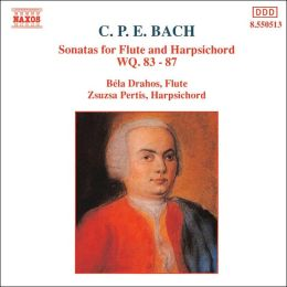 C.P.E. Bach: Sonatas for Flute and Harpsichord, WQ . 83-87