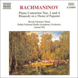 Rachmaninov: Piano Concertos Nos. 1 & 4; Paganini Rhapsody