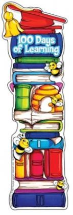 Eureka EU-834216 100 Days Of School Bookmark