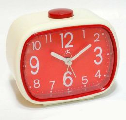 Infinity That 70''s Clock - Cream/Red Clock - 13229IV-2449RD