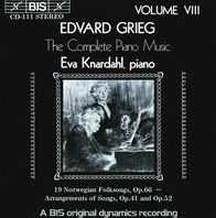 Grieg: The Complete Piano Music, Vol. 8