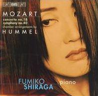 Mozart: Concerto No. 18; Symphony No. 40 (Chamber Arrangements by Hummel)