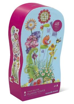 Flower Tower 39 piece Shaped Box Floor Puzzle