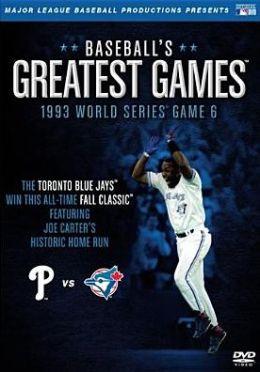 MLB: Baseball's Greatest Games - 1993 World Series Game 6