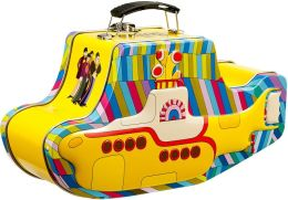Yellow Submarine Beatles Metal Tote with handle