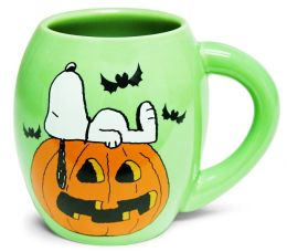 Peanuts Snoopy Halloween 18 oz Oval Mug