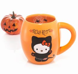 Hello Kitty Ceramic Oval Mug Orange 18 oz.