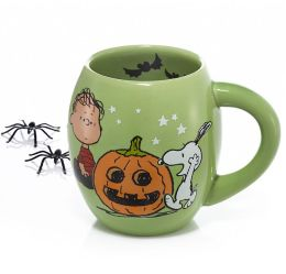 Peanuts Ceramic Oval Mug Green 18 oz.
