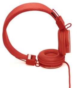 Urbanears Plattan On-Ear Stereo Headphones - Tomato