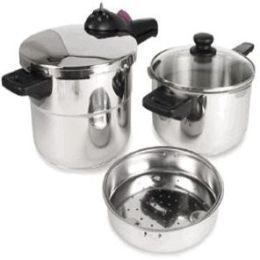 Fagor 918060803 2 x 1 Splendid 8 & 4 qt. Set Splendid Pressure Cooker