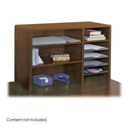 Safco 3692cy cherry 29 39 39 w compact desk top organizer by - Cherry desk organizer ...