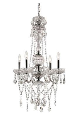 Trans Globe Lighting HL-4 SL Versailles HL 4 Light Chandelier in Silver