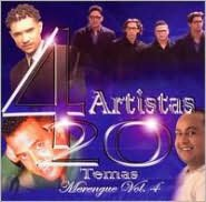 4 Artistas 20 Temas Merengue, Vol. 4