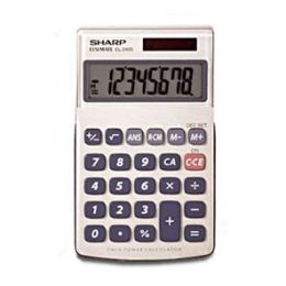 Sharp EL-240SB Business-Handheld Calculator, Eight-Digit LCD, EA - SHREL240SB