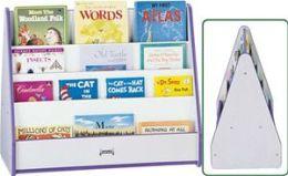 Jonti-Craft 3507JCWW119 - Rainbow Accents Mobile Pick-A-Book Stand - 2 Sided - Green Trim