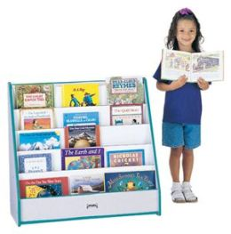 Jonti-Craft 3514JCWW003 FLUSHBACK PICK-a-BOOK STAND - 1 SIDED - BLUE