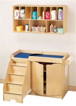 Jonti-Craft 5135JC CHANGING TABLE WITH STAIRS COMBO