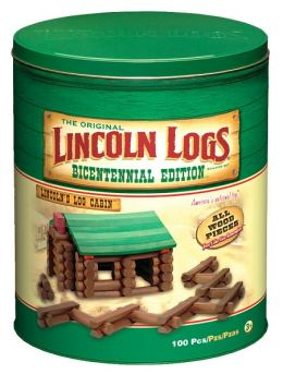 Lincoln Logs Bicentennial Edition Tin
